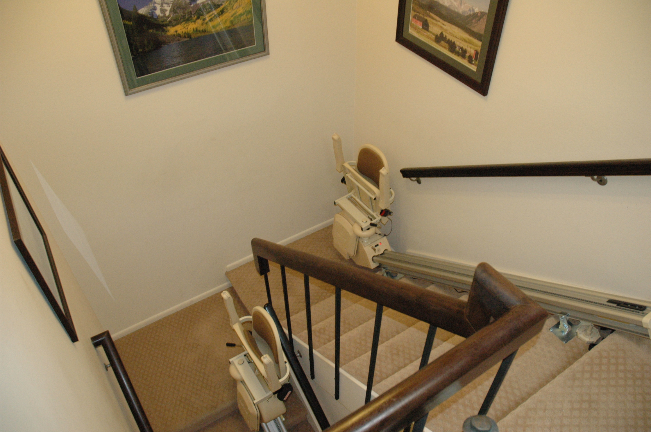 Custom stairlift vs two straight stairlifts ascent mobility for 2 story wheelchair lift