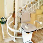Hawle Stairlift On White Staircase