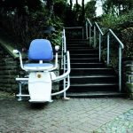 Hawle Curved Stairlift Outside of Denver Home