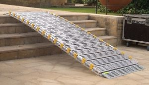 Roll A Ramp Attached to Front Steps
