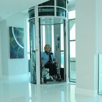 Pneumatic Elevator With Woman Inside