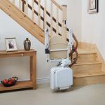 Handicare 2000 Curved Stairlift Folded