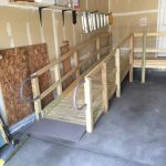 Wooden Ramp Install In Garage