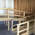 Wooden Ramp Two Levels Garage Install