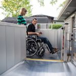 Man in Wheelchair Lift